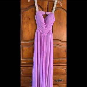 Formal full length dress.